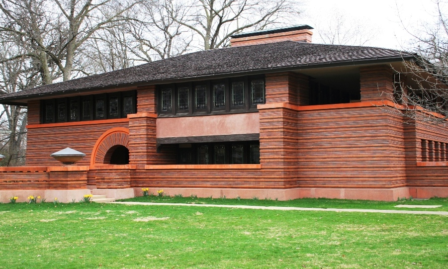 Prairie and foursquare architectural styles of america for Frank lloyd wright prairie style house plans