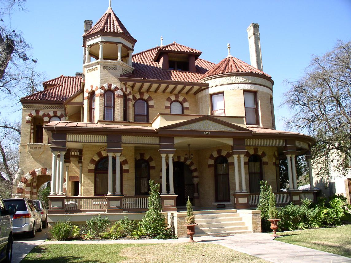 Queen anne architectural styles of america and europe for Grand home designs fort worth